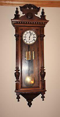 Antique 3 Weight German Vienna Wall Clock