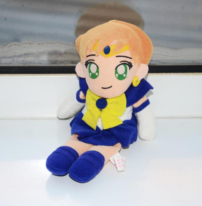 Sailor Uranus plush doll stuffed toy Sailor Moon vintage