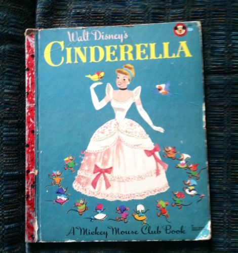 ON SALE! Vintage 1950 CINDERELLA Mickey Mouse Club Book