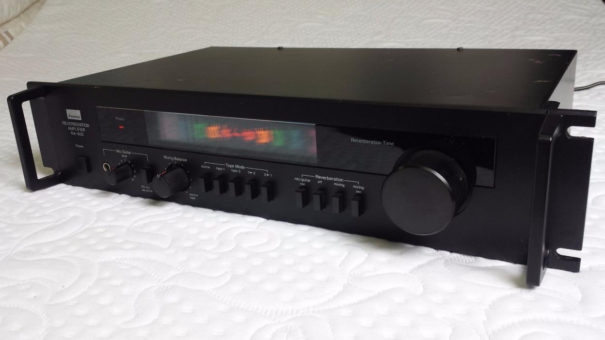 SANSUI RA-900 Reverberation amp with rack handles