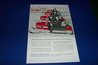 71 MASSEY FERGUSON SKI WHIZ SNOWMOBILE POSTER  vintage MF sno-machine