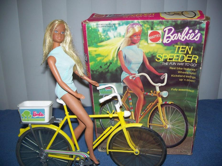 Vintage Malibu Barbie Doll w/ 1973 Ten Speeder Speed Bike w/ box