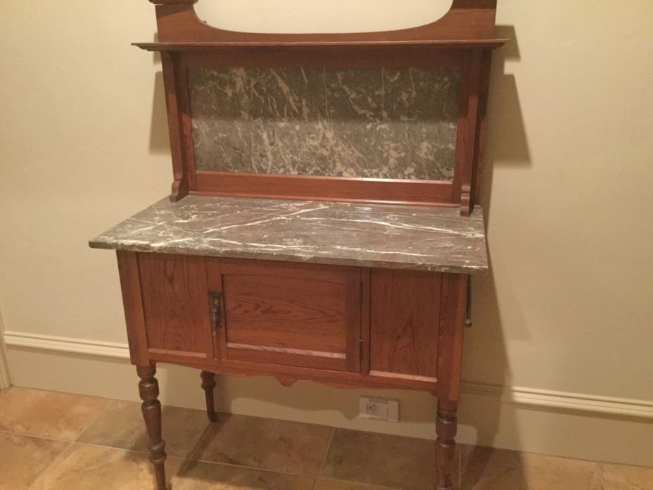 antique marble top washstand