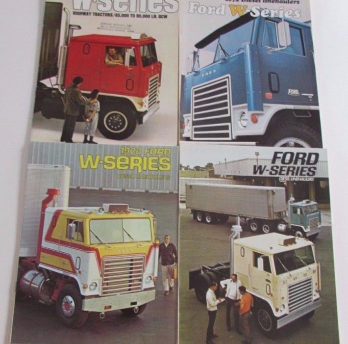 1967 1970 72 73 Ford Truck Sales Brochure W Series Diesel Linehaulers Semi