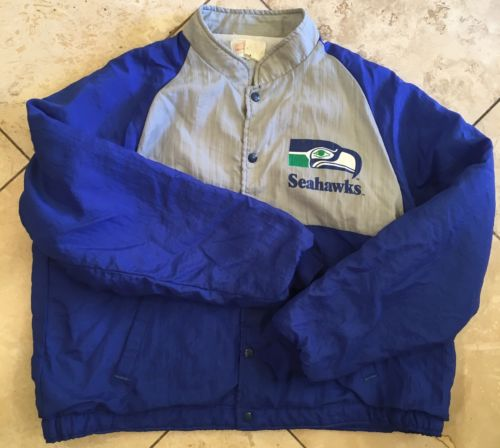 Vintage 1980s Seattle Seahawks Jacket XL Fiberglas Swingstor