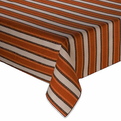 Indoor Outdoor 70 Round Tablecloth Terra Cotta Stripe Table Cover