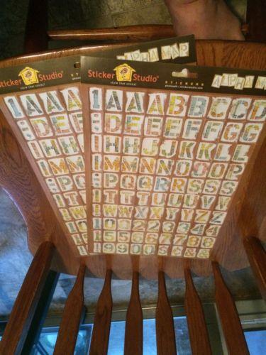 Large Lot Scrapbook misc Stickers words, letters & more 10 PKGS