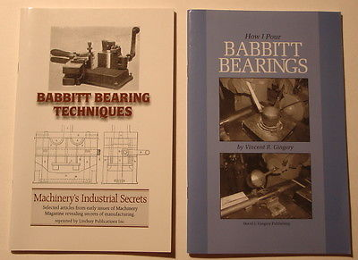Vintage books on Babbitt Bearing making wood lathe fabrication techniques