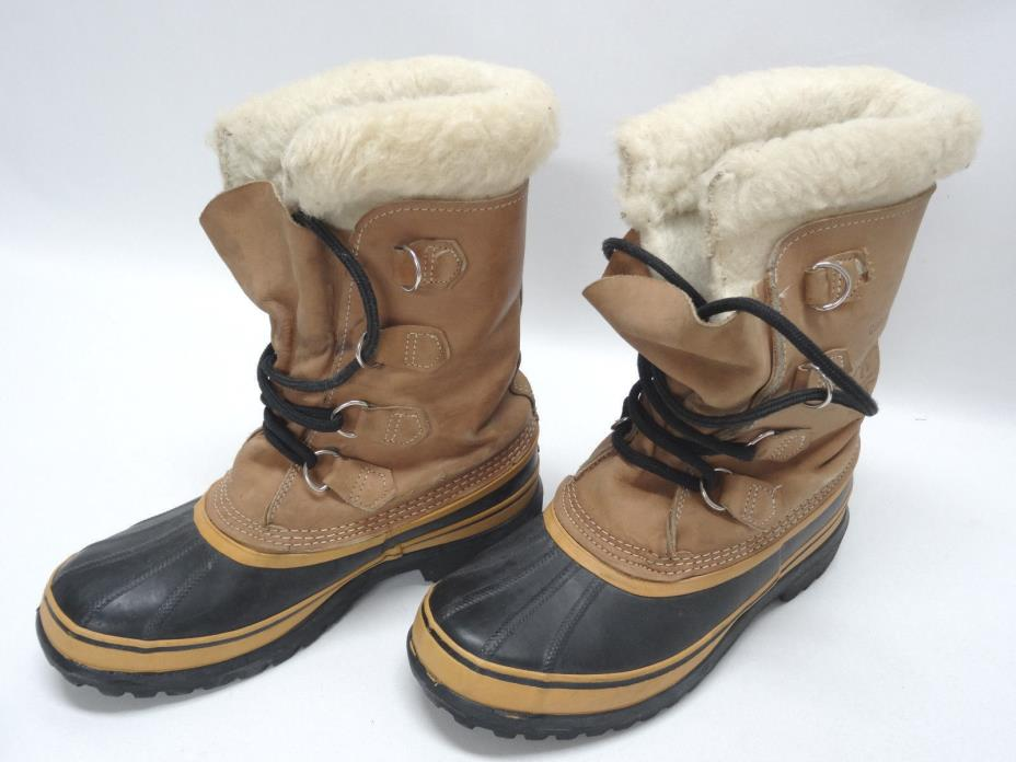 SOREL CARIBOU KAUFMAN UNISEX SNOW BOOTS SIZE 7US-M/8.5US-W/40EU/6.5-6UK in EUC