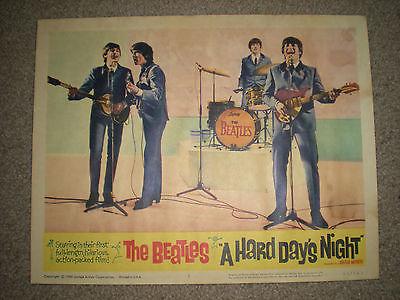1964 A HARD DAYS NIGHT Lobby Card #1 BEST LC Beatles