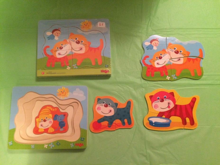 HABA WOODEN Puzzle Cuddly Kitties, Age 1+