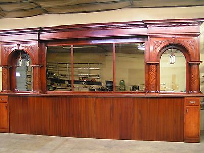 Antique Rosewood Cathedral Arch Back Bar, 1800's
