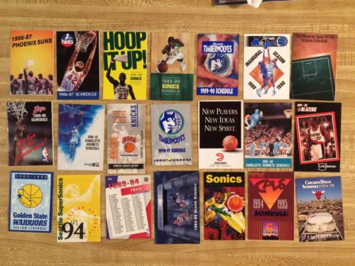 NBA Basketball Schedules Lot Of 21