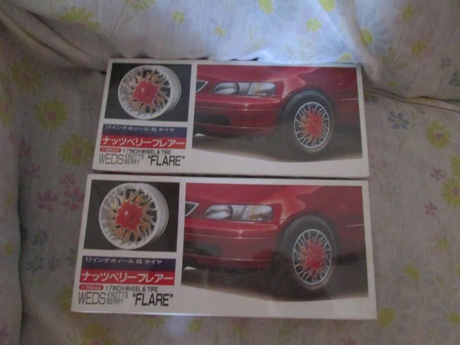 Two (2) Fujimi 17 Inch Wheel & Tire Knotts Berry