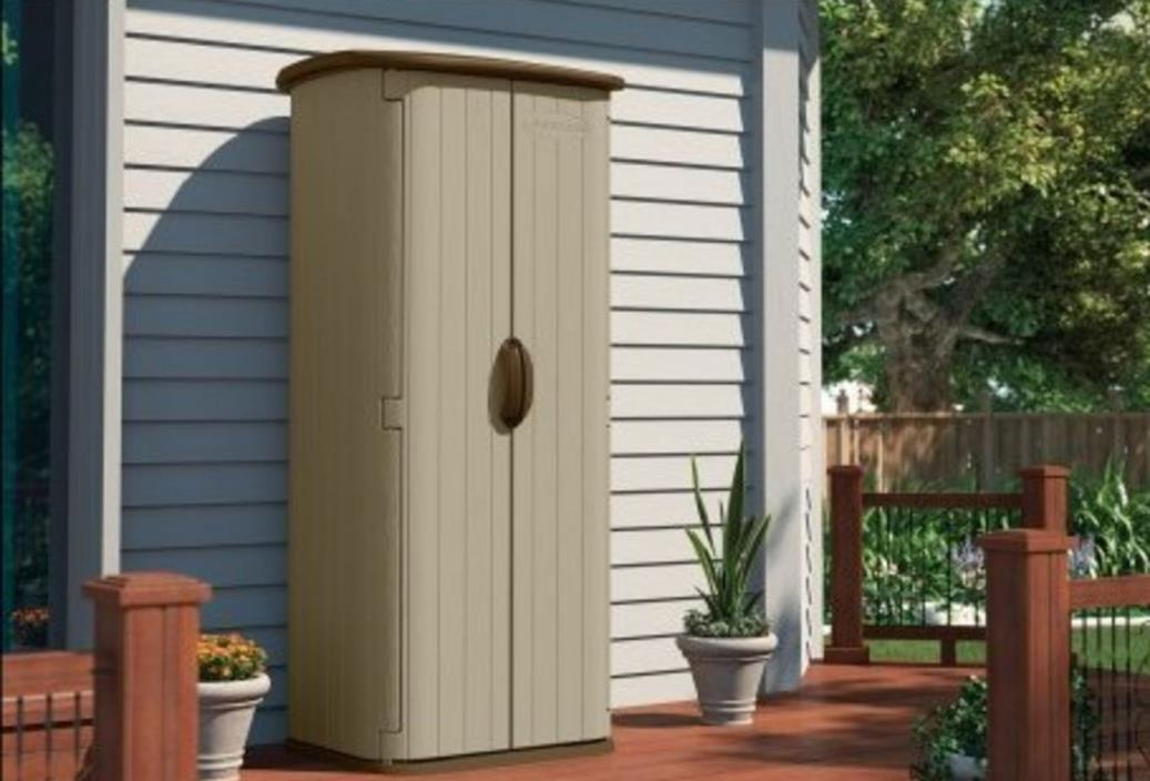 Outdoor Storage Shed Garden Small Sheds Suncast Vertical Utility Deck