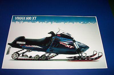 96 YAMAHA V-MAX 600 XT SNOWMOBILE POSTER  vintage vmax sno-machine   srx