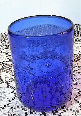 Candle Holders - Blue Glass