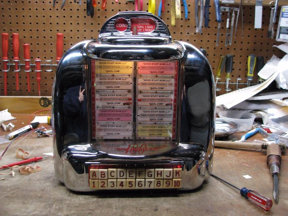 SEEBURG 3W1 JUKEBOX WALLBOX RESTORED and RECHROMED - STOCK #5292