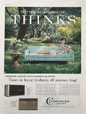 1959 CHRYSLER AIRTEMP  Air Conditioning Climate MInder VINTAGE PRINT AD