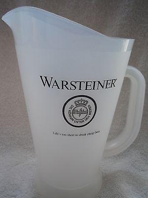 Warsteiner Beer Plastic Beer Pitcher New