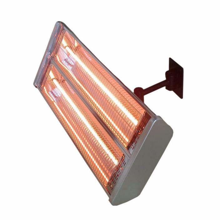 1500W Indoor Outdoor Anti-Tilt Switch Infrared Wall-Mount Electric Patio Heater