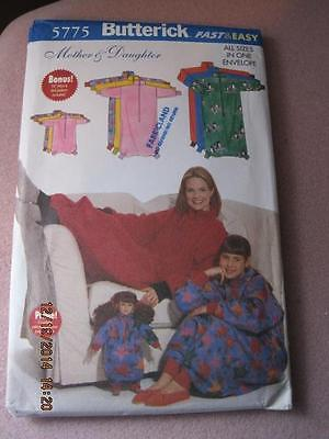 BUTTERICK Sewing Pattern 5775 Mother & Daughter Lounge Sack $9.95 1998 Unused
