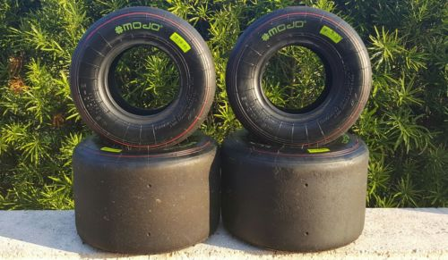 Used Mojo Red Go Kart Tires
