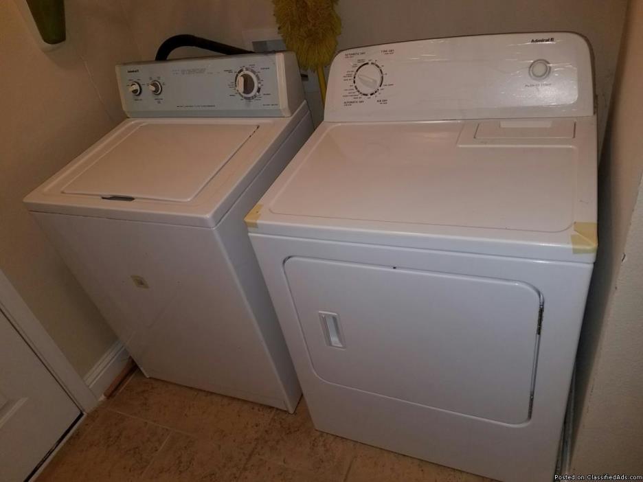 Washer Dryer Set - Admiral
