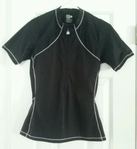 DeSoto Triathlon Cycling Jersey Shirt Top  - Women's size Large L - black