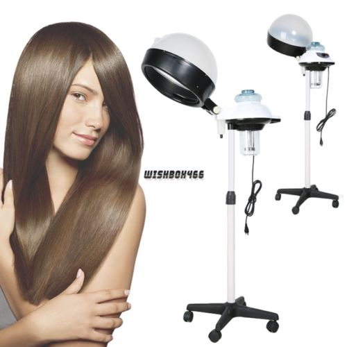 Pro Beauty Salon Hair Steamer Rolling Stand Base Hood Color Processor Home Store