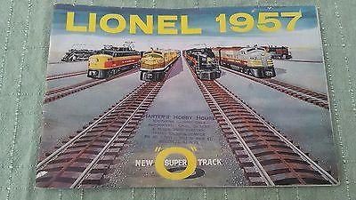 VINTAGE 1957 LIONEL TRAIN CATALOG – ORIGINAL – IN FAIR- Good  CONDITION