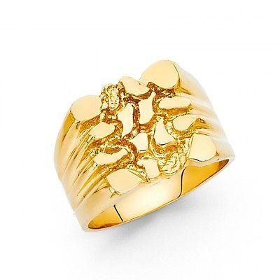 Men's 14k yellow Genuine Gold Big Nugget Ring
