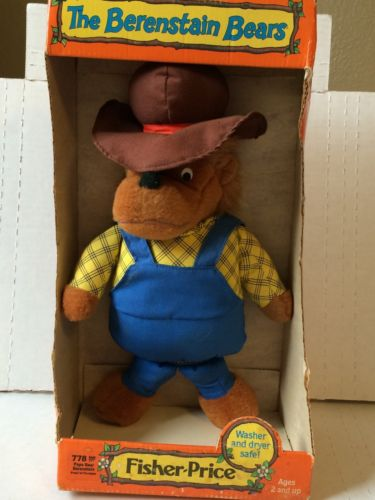 Vintage The Berenstain Bears Plush 778 Papa Bear New In Box 1982 Fisher Price