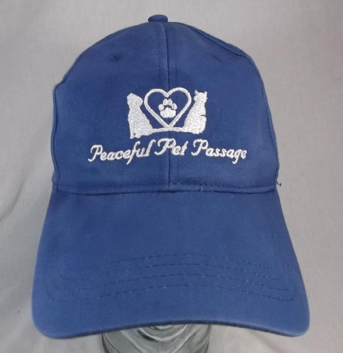 Peaceful Pet Passage Animal Burial Blue Cap Hat