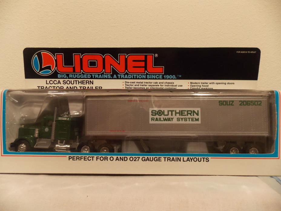 LIONEL LCCA SOUTHERN TRACTOR AND TRAILER  #6-52056