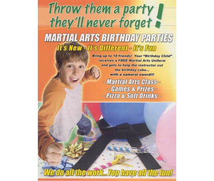Karate Birthday Party - Reserve YOURS and SAVE $50.00