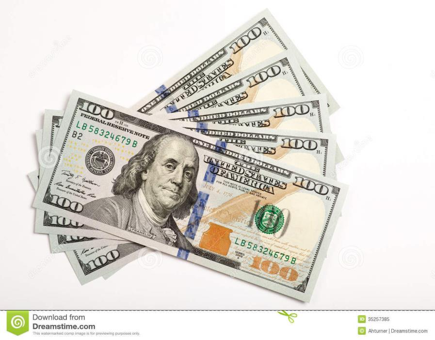 $100 DOLLAR BILL FEDERAL RESERVE NOTE 1 (one) BILL