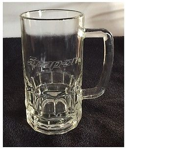 Snap On Tools Tall Glass Mug Stein Advertising Promotional Souvenir Snap-On