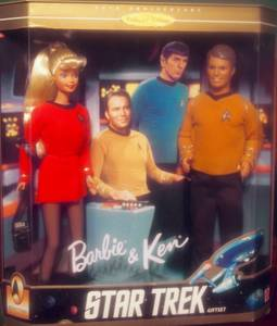 BARBIE Star Trek Giftset 30th Anniversary New in Box Mattel KEN***