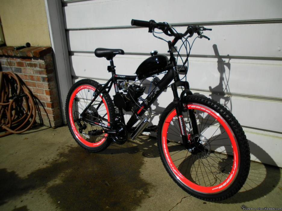 motorized kent KZR 18 speed mountain bike
