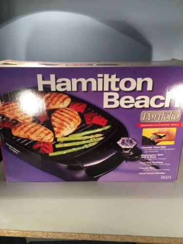 Hamilton Beach Portfolio Indoor Outdoor Grill 31603