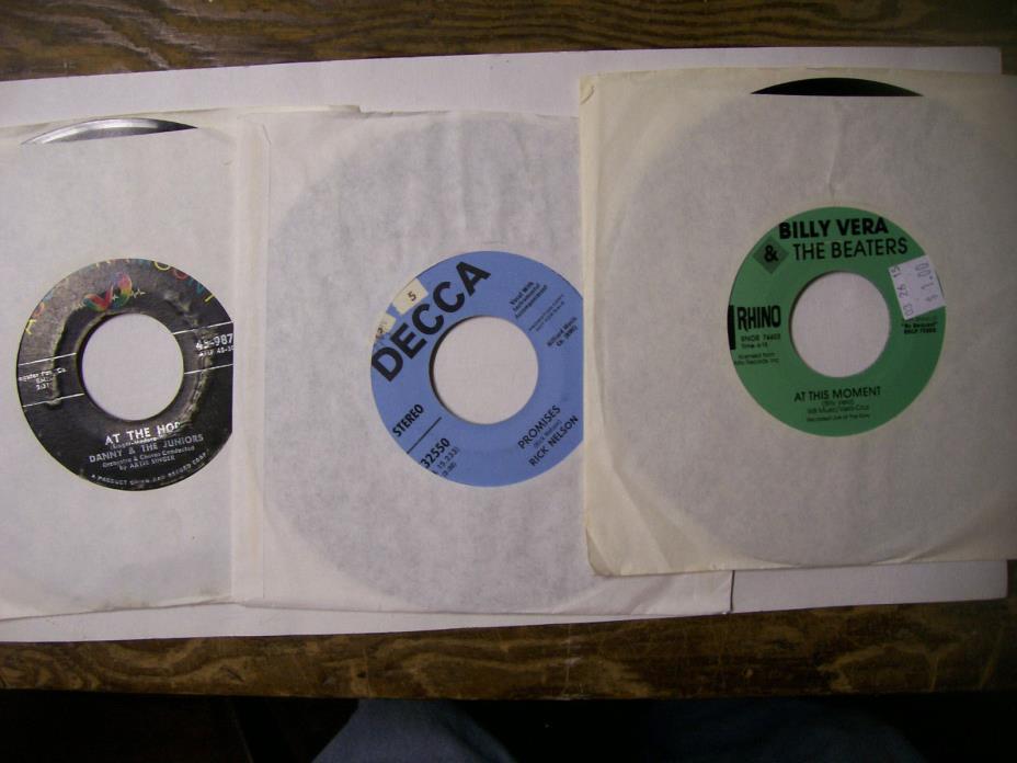 Bulk 45 rpm 175 jukebox records, Rockola, Seeburg, Wurlitzer