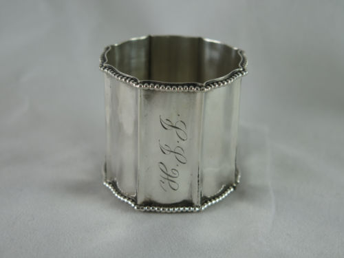 Antique Gorham Sterling Large Octagonal Napkin Ring