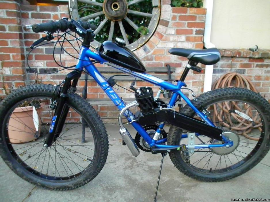 motorized huffy fat tire mountain bike  18 speed