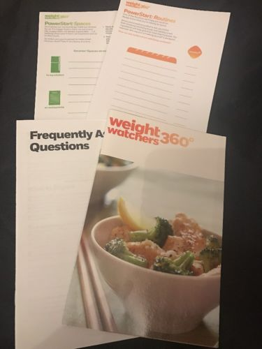 NEW! Weight Watchers 360* Power Start Booklets, FAQ's, Routines, Spaces misc WW