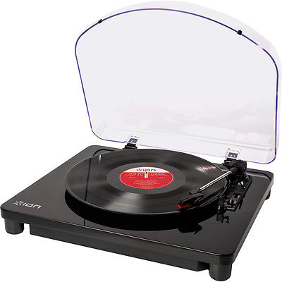 Ion CLASSIC LP USB Conversion Turntable, Black - NEW!