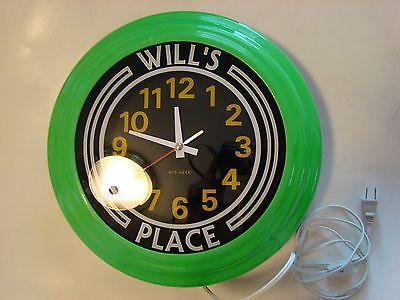 Art-Deco Wall Neon Type Clock