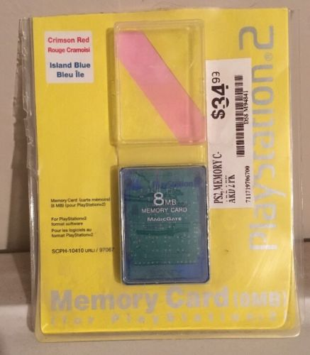 Sony Playstation 2 8mb Memory Card Island Blue NEW