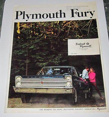 1965 SALES BROCHURE - PLYMOUTH FURY