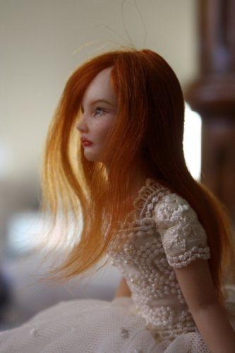 OOAK handsculpted Polymer Clay Art Doll figurine ballerina DREAM by YivArt